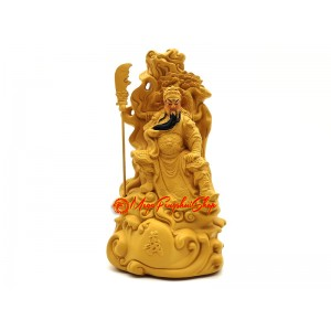 Sitting Kuan Kung Statue with Sword