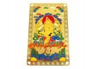 Tibetan Wealth God Yellow Jhambala Card (Metal)