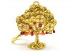 Tree Bringing 3 Kinds of Wealth Feng Shui Keychain