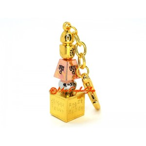 Tri-Coloured Five Element Pagoda Keychain