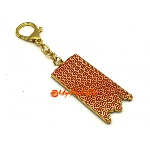 Victory Banner Amulet Feng Shui Keychain