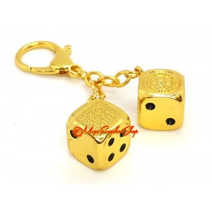 Victory in Gambling Keychain (Gold)