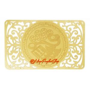 Wealth-Bringing Mongoose Gold Talisman Card