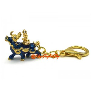 Wealth Bull For Attracting Immense Wealth and Big Auspicious Keychain
