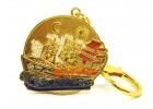 Wealth Ship Amulet Keychain