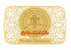 Wealth Talisman Printed on Card in Gold