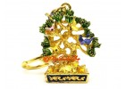 Wealth Tree With Mongoose And Birds Keychain