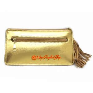 Wealth Wallet with Wealth-Spouting Mongoose (Gold)