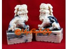 Pair of Feng Shui Foo Dogs (white)
