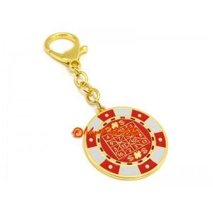 Winning-Chip Talisman with Wealth Mantra Keychain