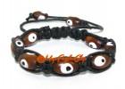 Wooden Evil Eye Amulet Bracelet - Adjustable