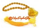 Yellow Liuli Laughing Buddha Hanging Tassels