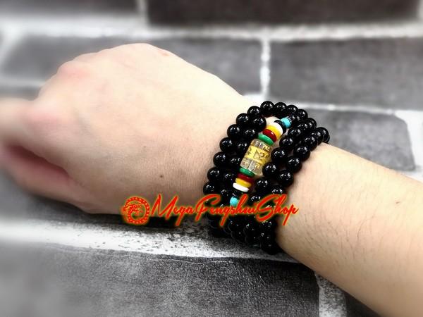 108 Prayer Beads With Om Mani Padme Hum